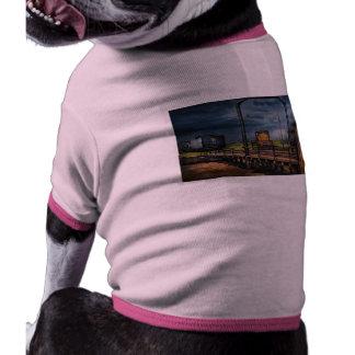 Train - On the turntable Doggie Tee Shirt