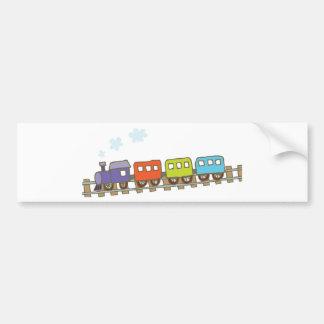 Train on Track Bumper Sticker