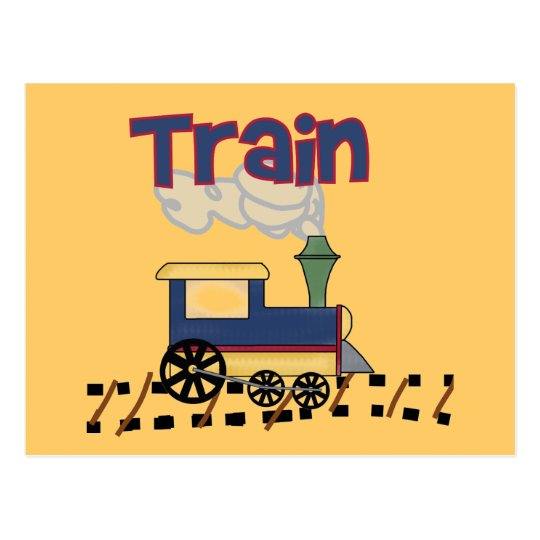Train on Track Tshirts and Gifts Postcard