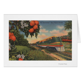 Train- Orange Blossom Special Greeting Card