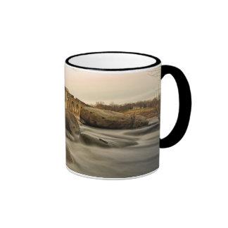 Train over James River Ringer Mug