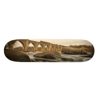 Train over James River Skateboard