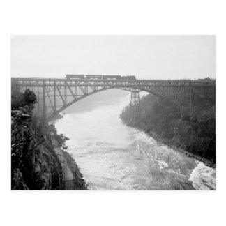 Train Over Niagara River, 1910 Postcard