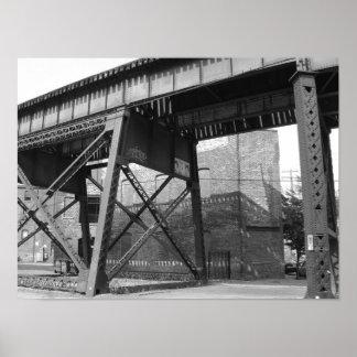 Train overpass Richmond Virginia Print