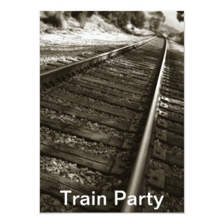 Train Party Card
