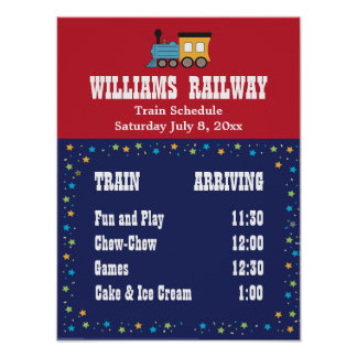 Train Party Schedule Poster