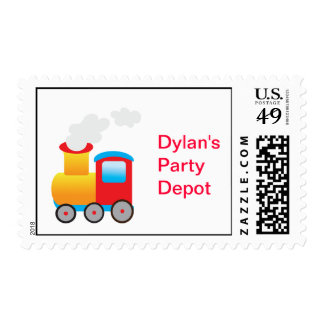 Train Party Stamps