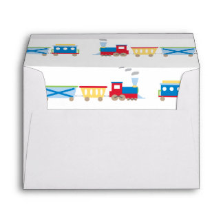 Train Personalized Birthday Invitation Envelope