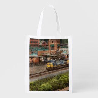 Train - Pittsburg, PA - Station Square Reusable Grocery Bag