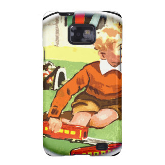 Train play 50s style galaxy SII case