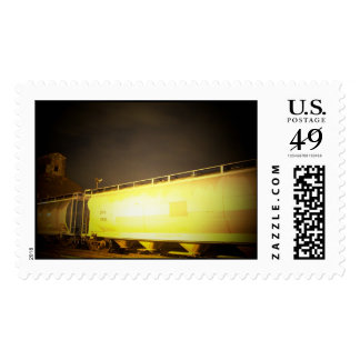 train postage stamp