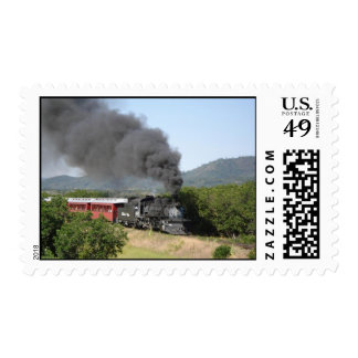 TRAIN POSTAGE STAMPS