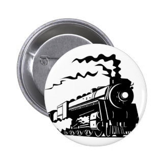 Train Print Pinback Button