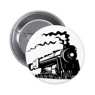 Train Print Pinback Button