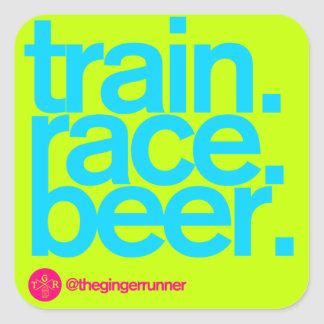"""TRAIN.RACE.BEER. 3"""" Stickers (bright)"""