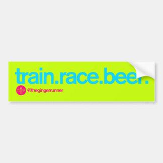 TRAIN.RACE.BEER. Bumper Sticker