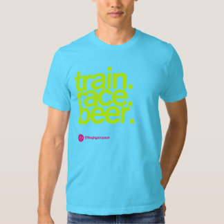 TRAIN.RACE.BEER. Camiseta del AA Playera