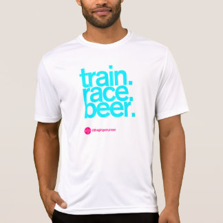 TRAIN.RACE.BEER. Fitted Running T-shirt