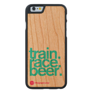 Train Race Beer iPhone 6 Wooden Case Carved® Cherry iPhone 6 Case