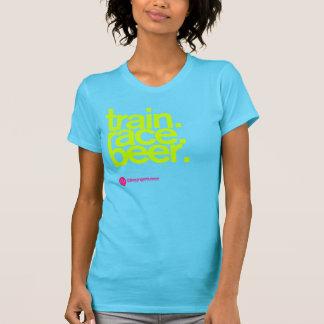 TRAIN.RACE.BEER. La camiseta de las mujeres