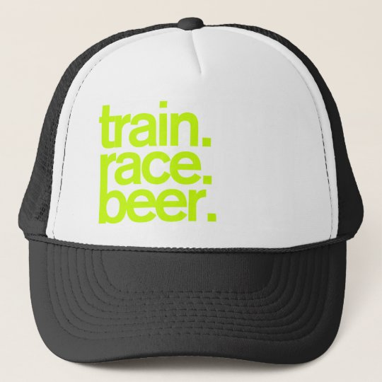 f55b5d1bf7f TRAIN.RACE.BEER. Trucker Hat