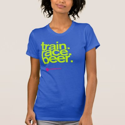 68a4e6a8d8 TRAIN.RACE.BEER. Fitted Running T-shirt | Zazzle.com