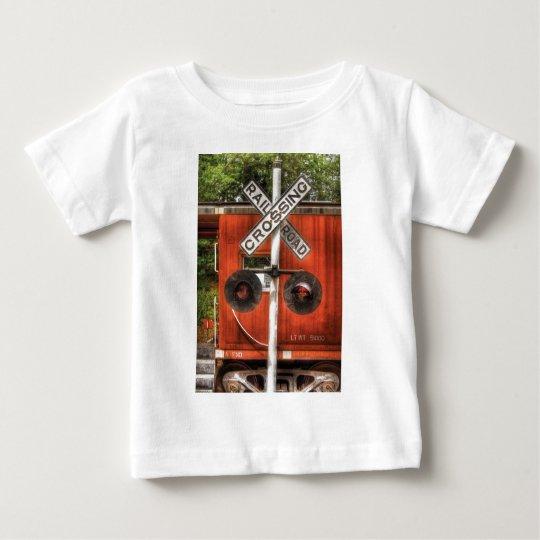 Train - RailRoad Crossing Baby T-Shirt