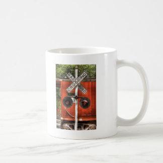 Train - RailRoad Crossing Coffee Mugs