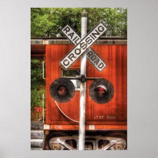Train - RailRoad Crossing Poster