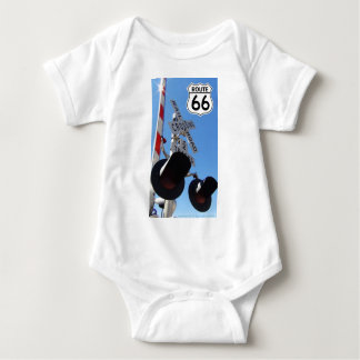 Train Railroad crossing route 66 Baby Bodysuit
