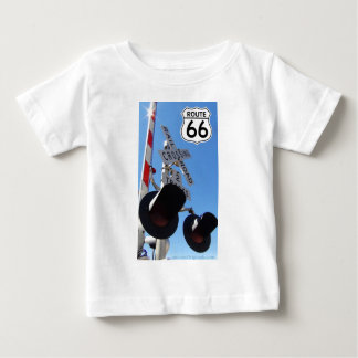 Train Railroad crossing route 66 Baby T-Shirt