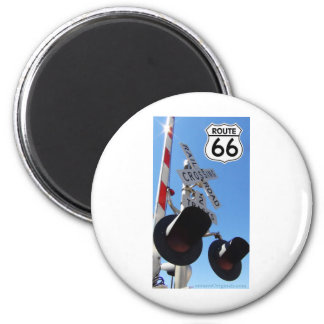 Train Railroad crossing route 66 Magnet