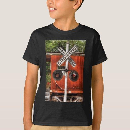 Train - RailRoad Crossing T-Shirt