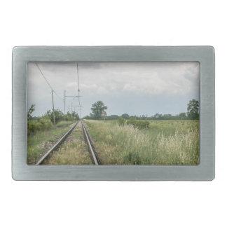 train rails belt buckle