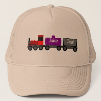 Train red trucker hat