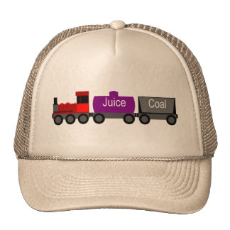 Train red trucker hat