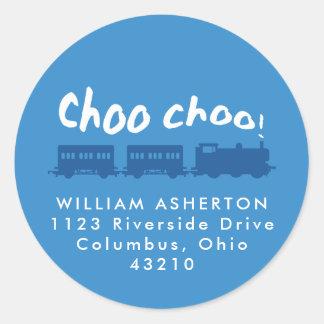 Train return address sticker
