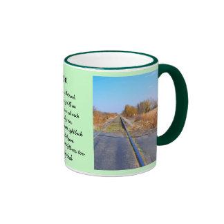 Train Ride Ringer Coffee Mug