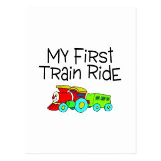 Train Ride My First Train Ride Postcard