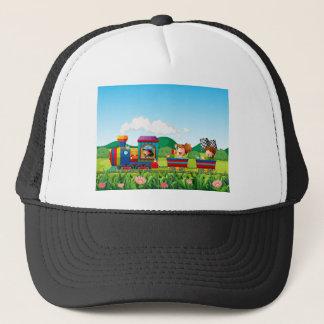Train ride trucker hat
