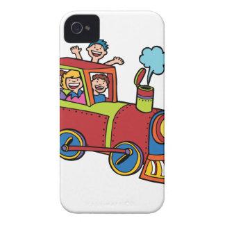 Train Riders Cartoon iPhone 4 Case