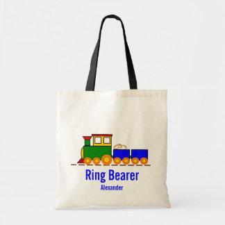 Train Ring Bearer Wedding Tote Bag