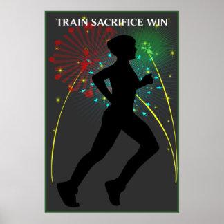 Train Sacrifice Win Running Poster