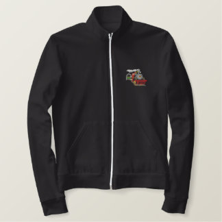 Train Scene Embroidered Jackets