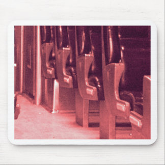 Train  Seats in Red Mouse Pads