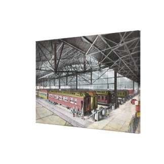 Train Shed at Union Station Canvas Print