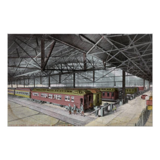 Train Shed at Union Station Poster