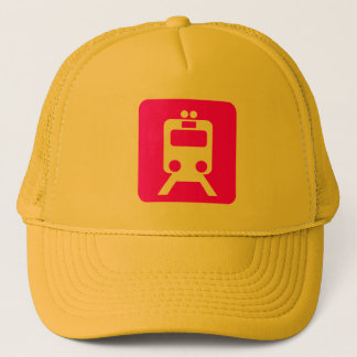 Train Sign - Magenta Trucker Hat