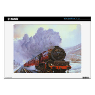 Train Snow Winter Painting  Smoke Decal For Acer Chromebook