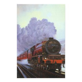 "Train Snow Winter Painting  Smoke 5.5"" X 8.5"" Flyer"